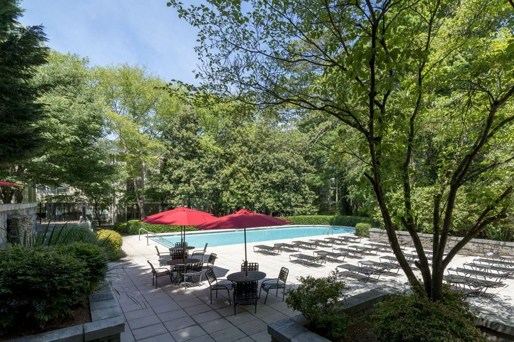 Pool Area Day at The Berkshires at Lenox Park
