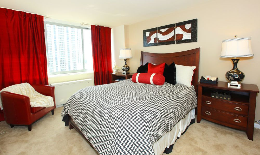 Comfortable bedroom at our Towson, MD apartments