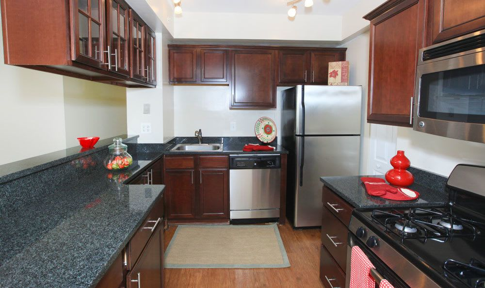 Clean kitchen at our apartments in Towson, MD