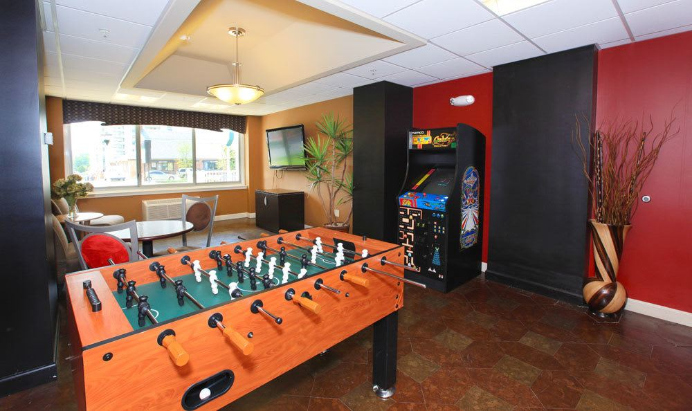 Game room at our Towson, MD apartments