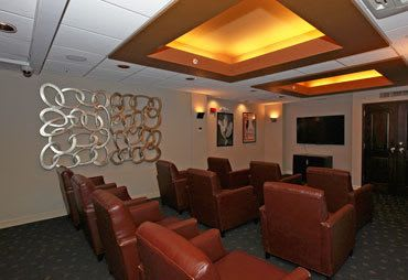 Theater room inside our Towson MD apartments