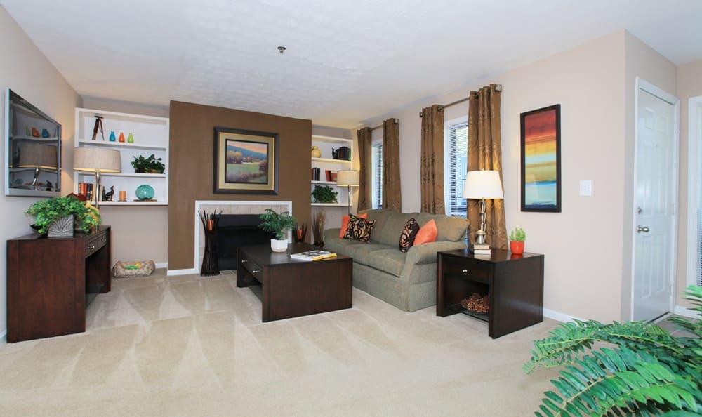 Living room at The Berkshires at Vinings