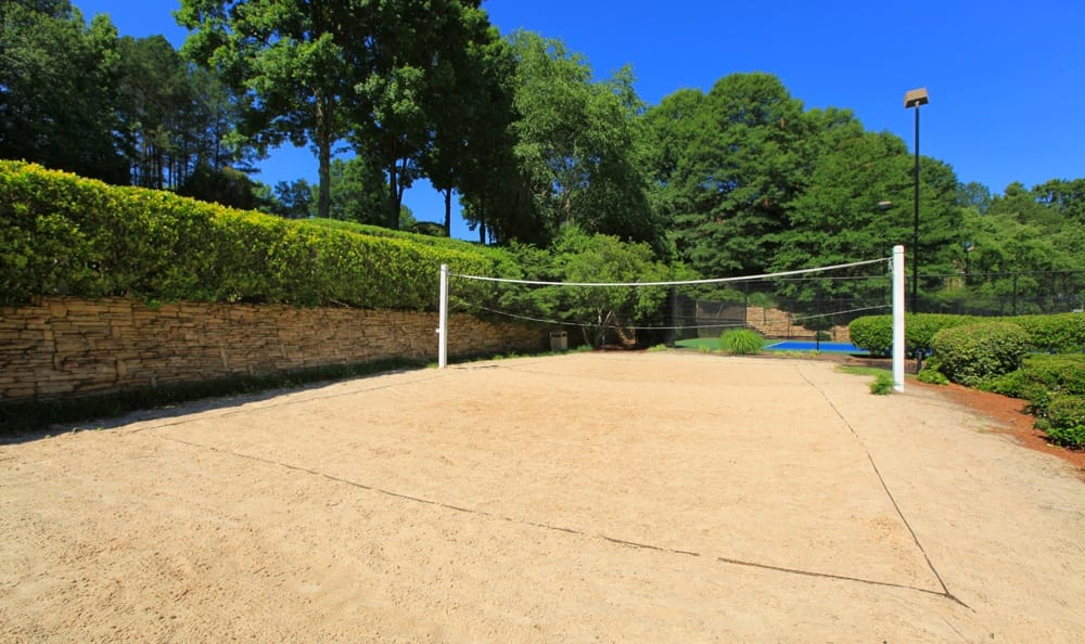 Volleyball court at Smyrna