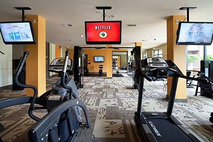 Fitness center inside our Atlanta apartments