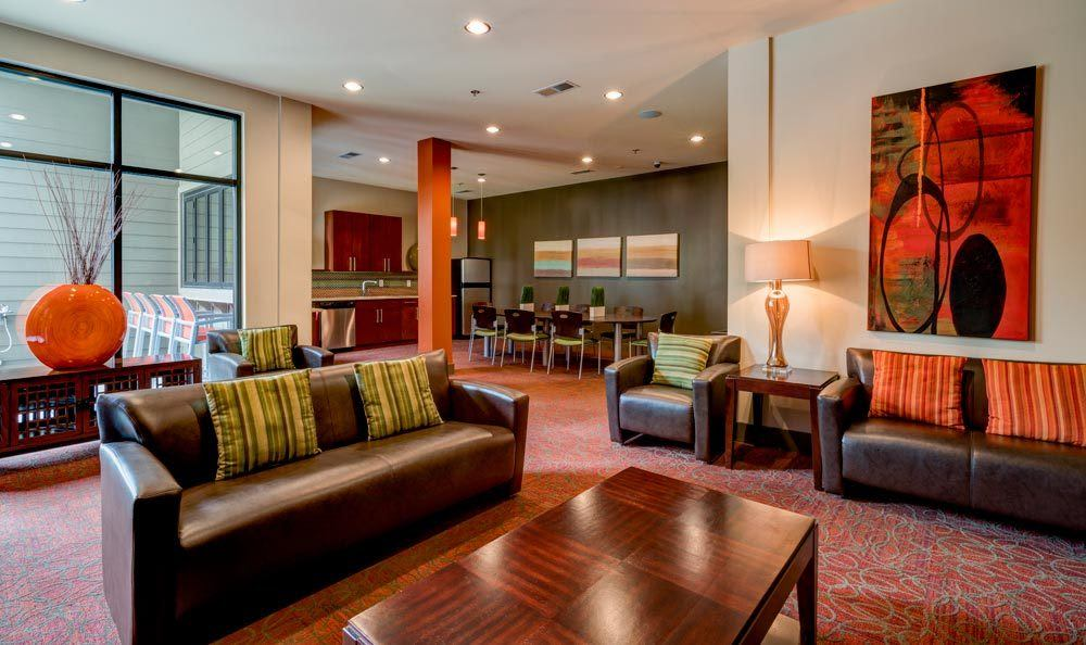 Enjoy the living room area at eon at Lindbergh in Atlanta