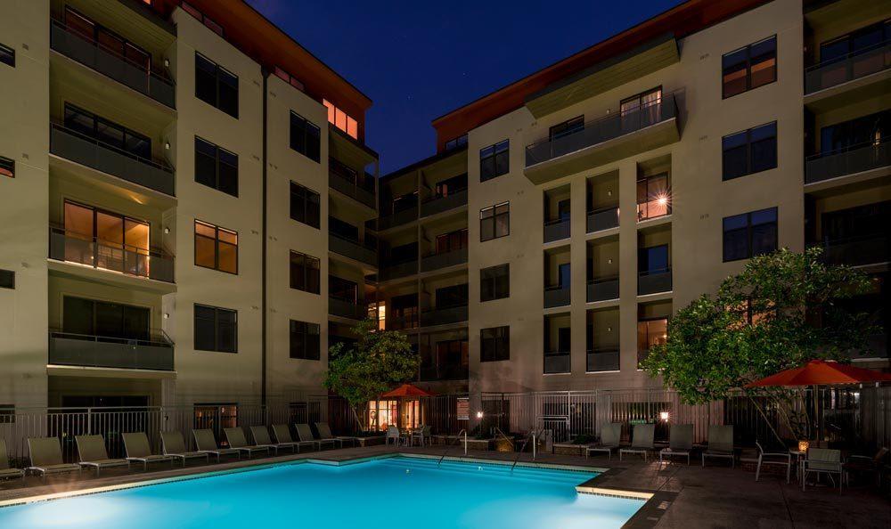 The swimming pool at our Atlanta apartments