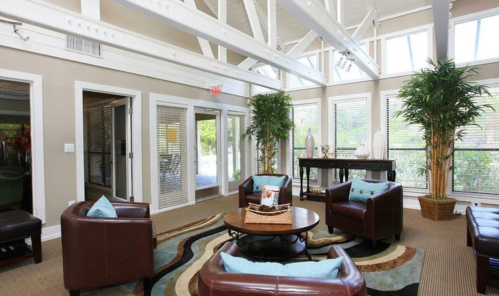 Inside the lobby of our Orlando apartments