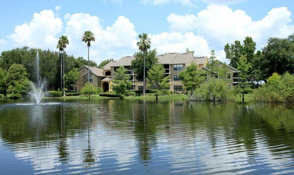 Orlando with a pond fountain