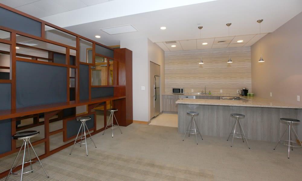 Clubroom at the apartments in Quincy