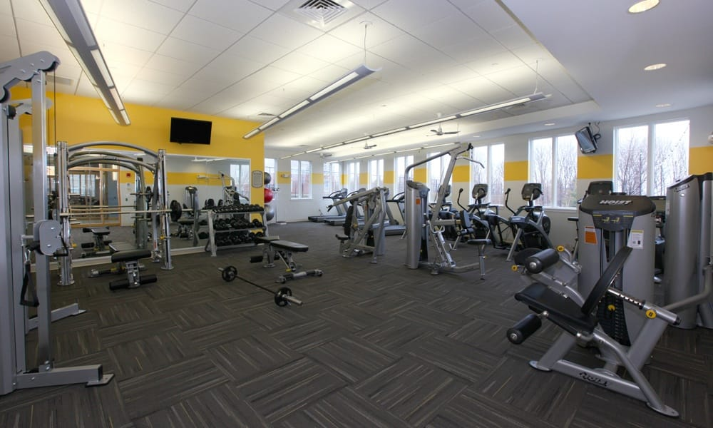 Gym in Quincy apartments