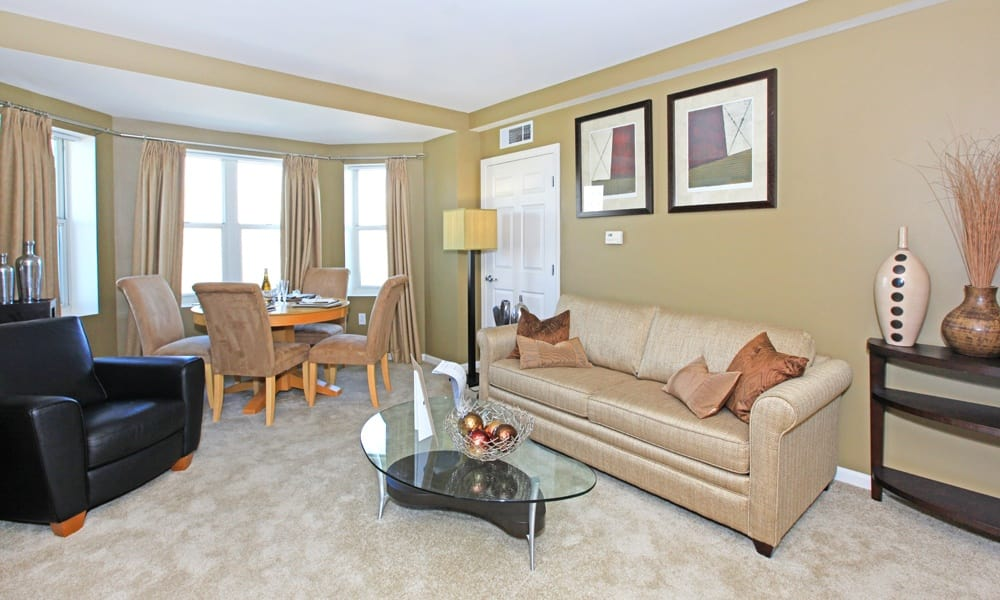 Model Living Room have spacious bedrooms