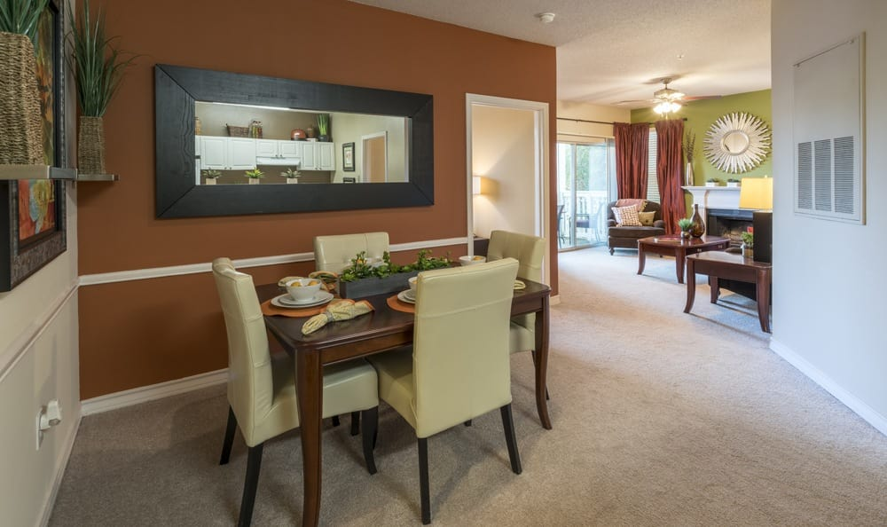 Enjoy a spacious dining room at Franklin apartments