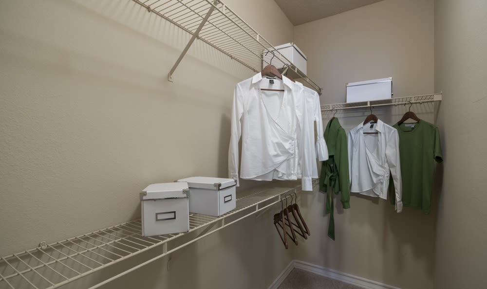 Walk in closets are available at Franklin apartments