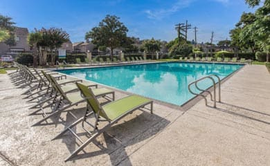 Swimming pool at our apartments in Houston