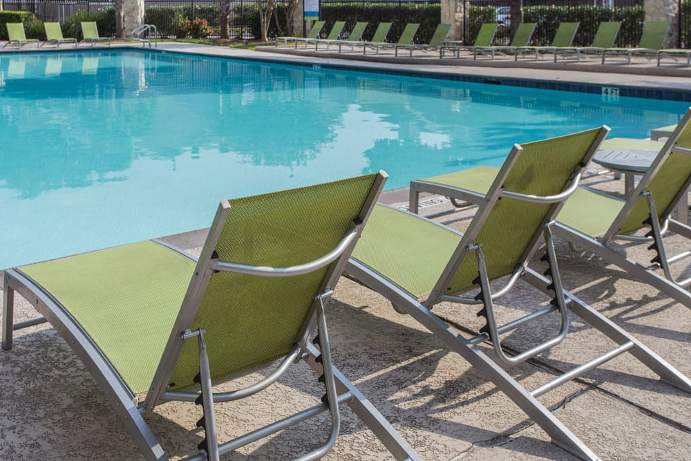 Relax by the pool at Bayou Park