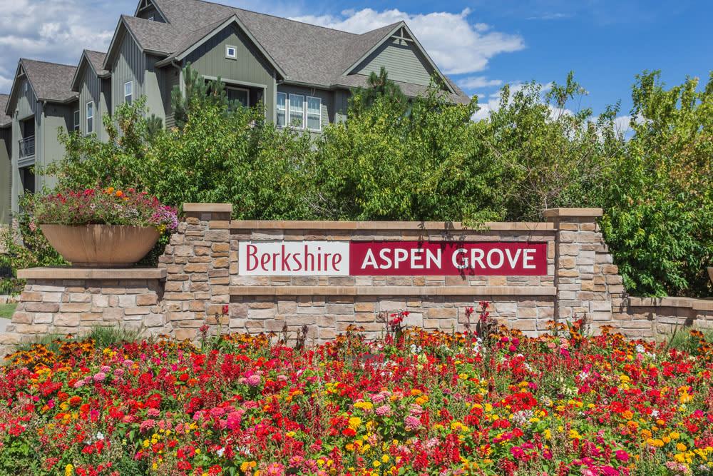 Signage at Berkshire Aspen Grove