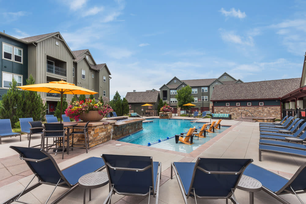 Relax by the pool at Berkshire Aspen Grove