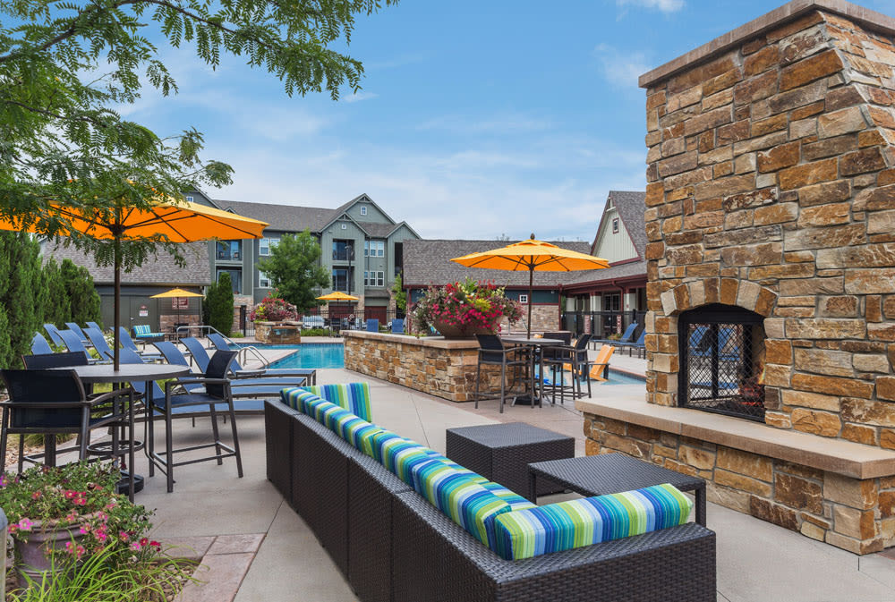 Relax at outdoor lounge area at Berkshire Aspen Grove