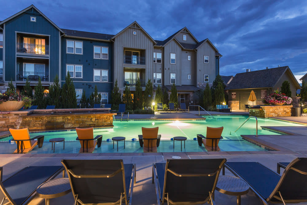 Littleton apartments offering a sparkling swimming pool