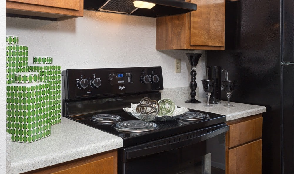 The appliances in the kitchens in our Houston apartments