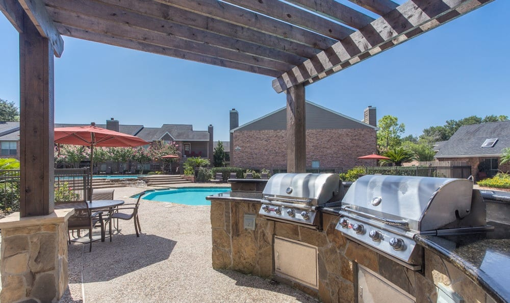 Outdoor grills at our Houston apartments
