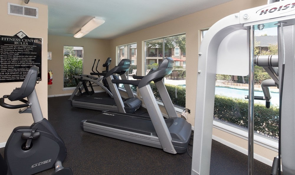 Fitness center at our Houston apartments