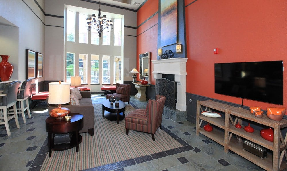 The lobby at Fairfield apartments