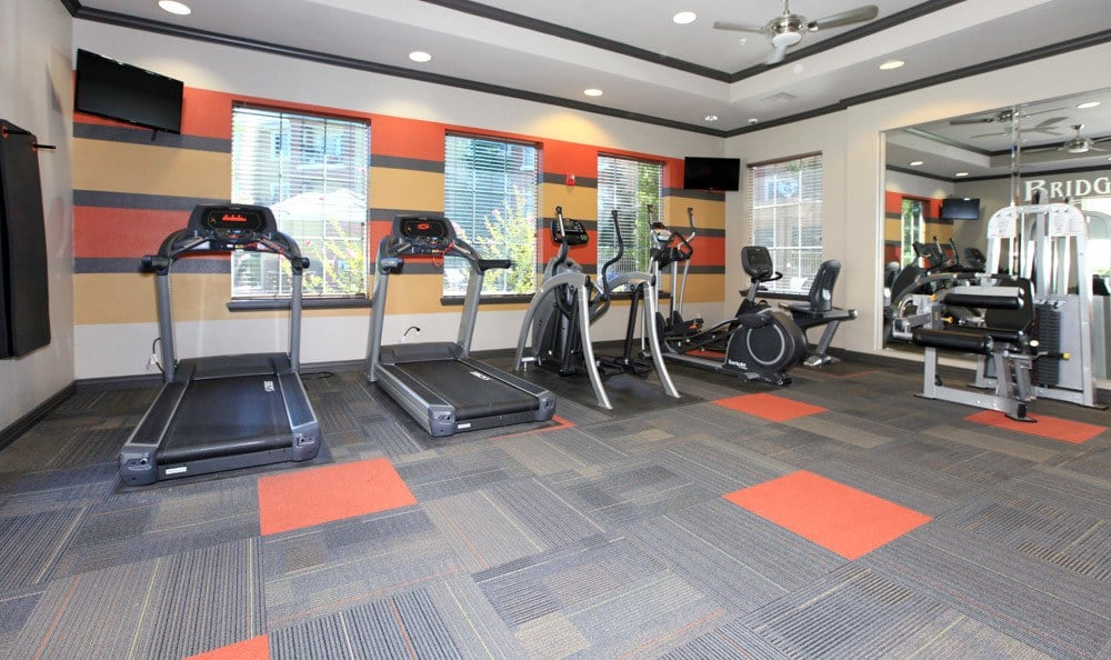 The gym at our Fairfield apartments