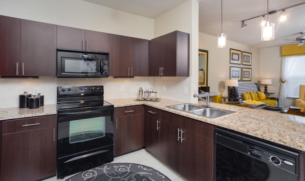 Nice kitchen at our apartments in Houston TX