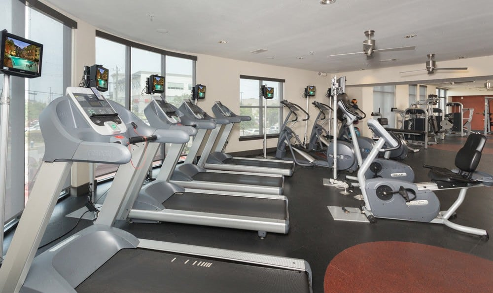 Fitness center in our Houston apartment homes