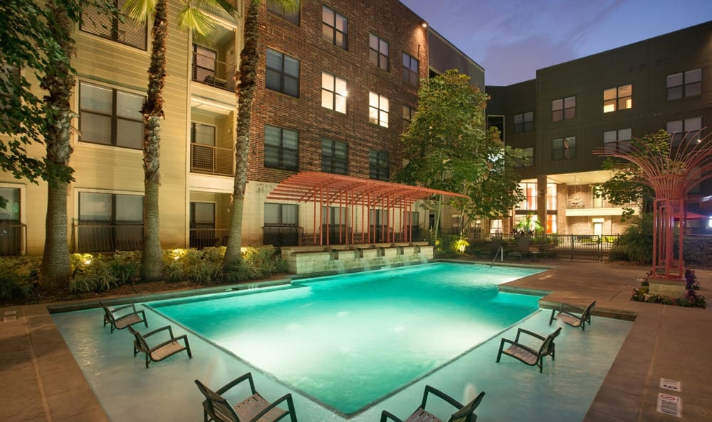 Poolside amenities in our Houston TX apartments