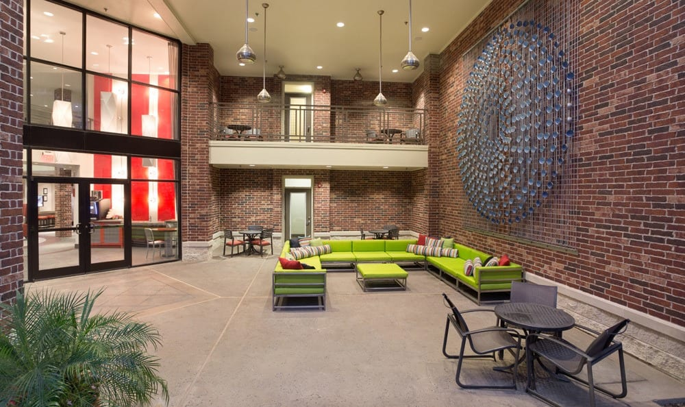 Nice clubhouse seating at our Houston TX apartments