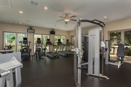 Fitness center inside our apartments in Houston