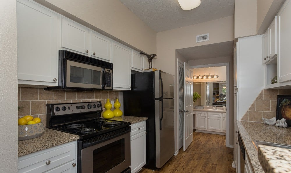 Nice kitchens in our Houston, TX apartments