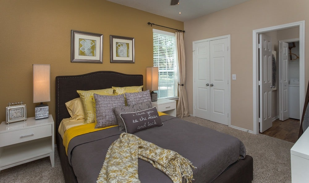 Comfortable bedroom in our Houston, TX apartments