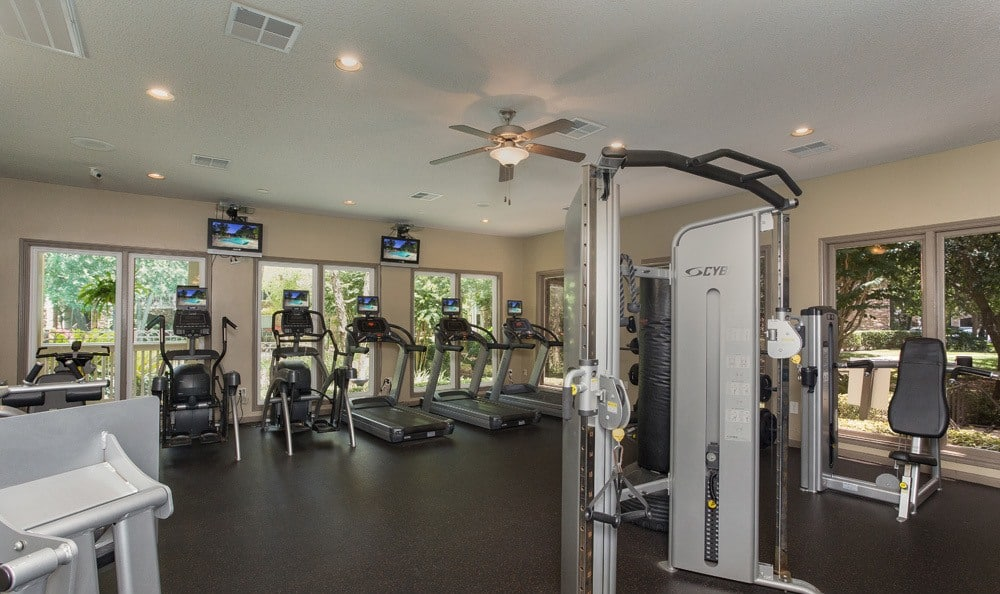 Fitness center in our Houston, TX apartments