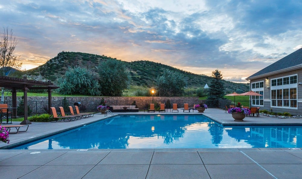 Gorgeous Pool Side View at Dakota Ridge in Littleton