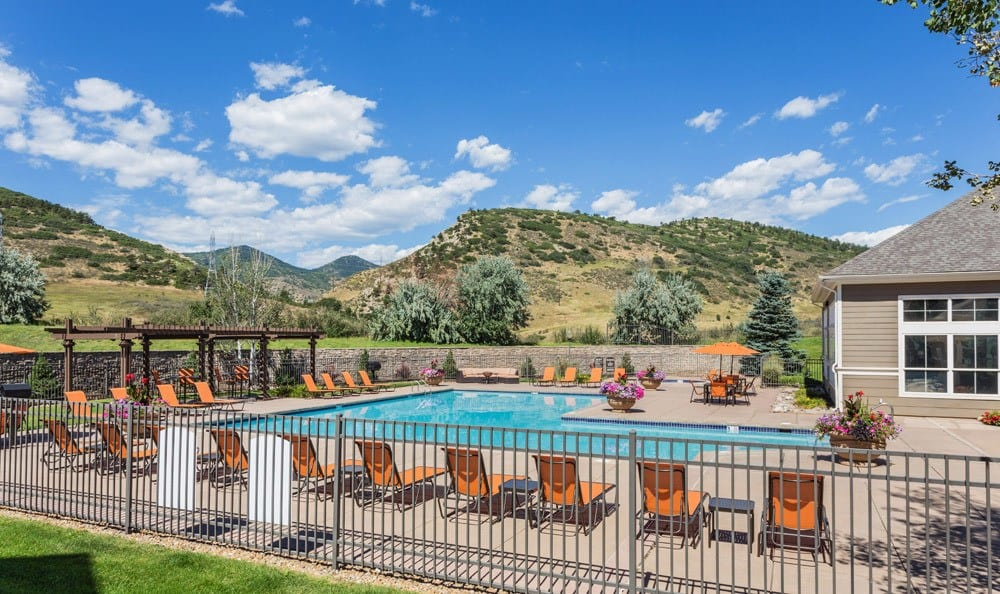 Large Community Outdoor Pool at Apartments in Littleton