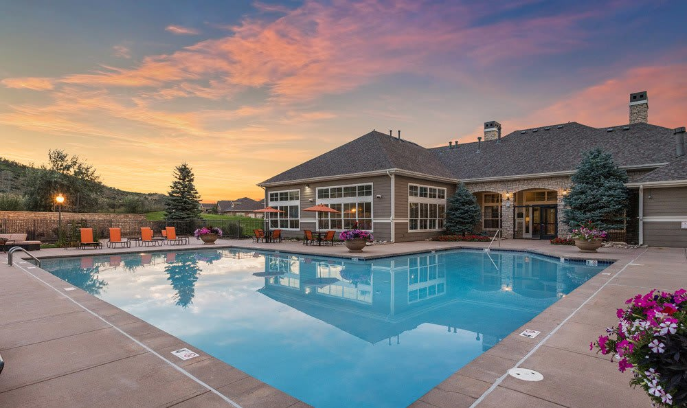 Beautiful Sparkling Pool at Dakota Ridge