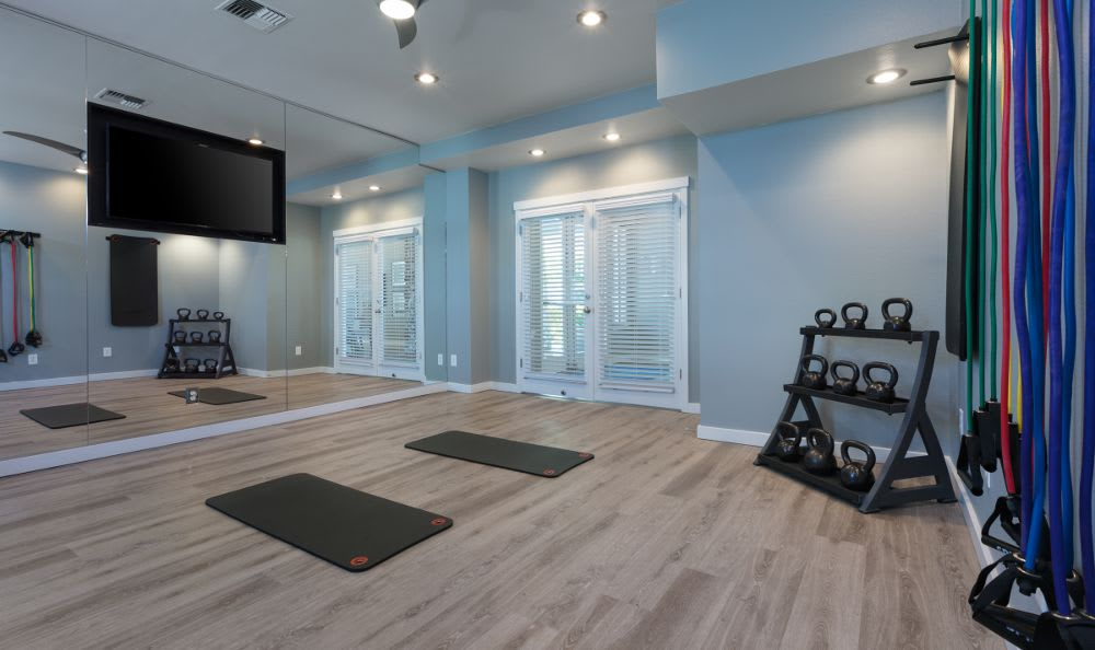 Apartments with a spacious fitness center