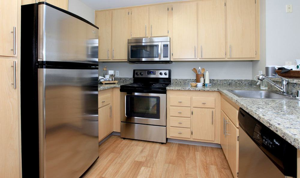 A view of the kitchen inside San Jose apartments
