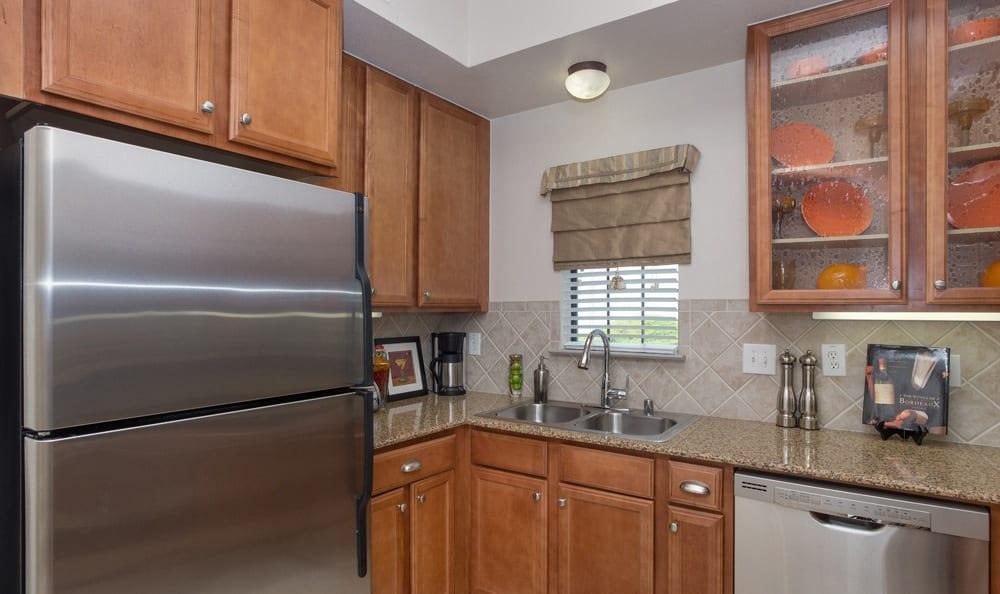 Spacious kitchen at Dallas apartments