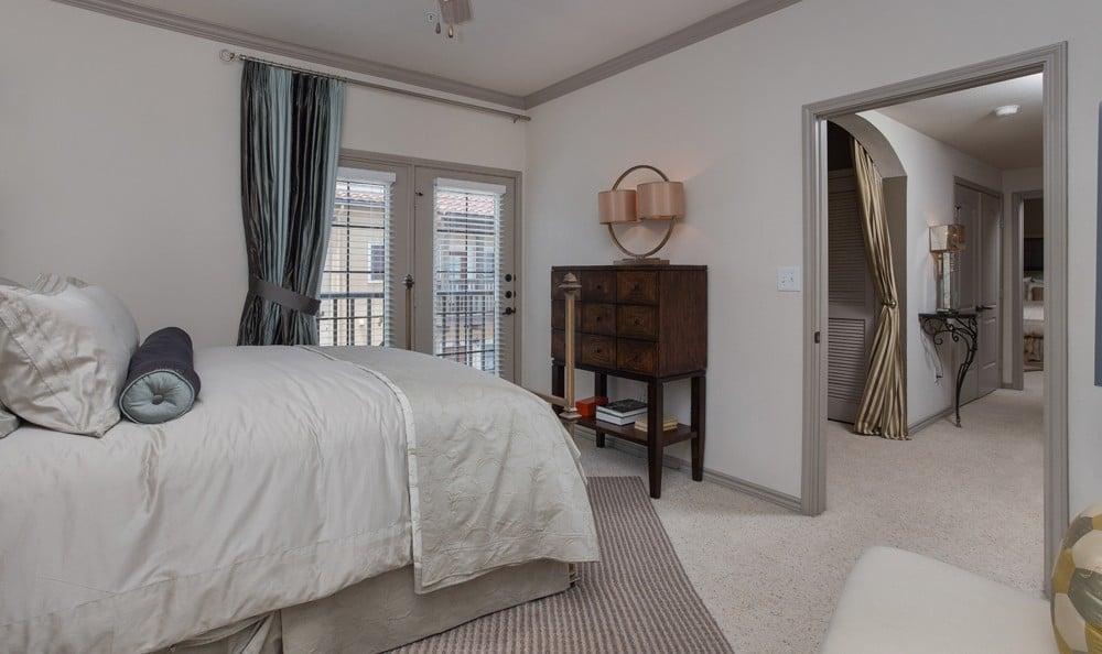 Spacious bedroom at Dallas apartments