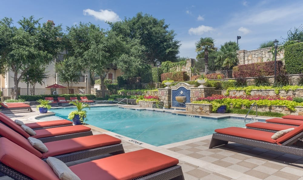 Relax by the pool at Dallas apartments