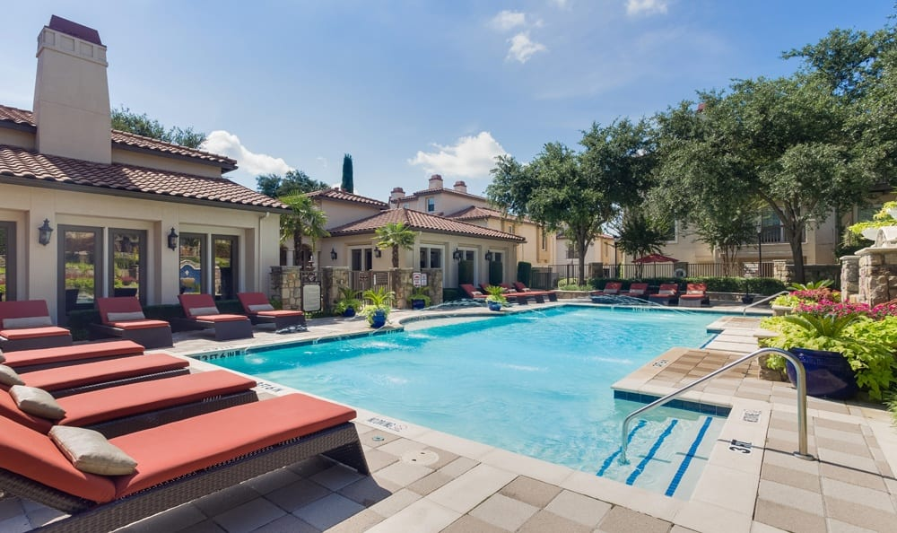 Enjoy our beautiful pool at apartments in Dallas