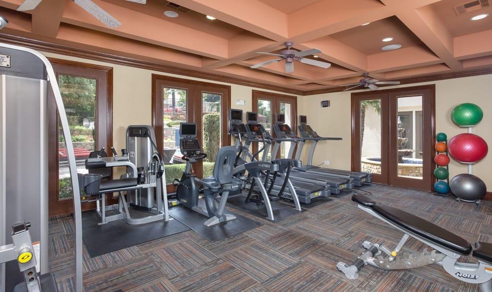 Take advantage of a gym at Dallas apartments