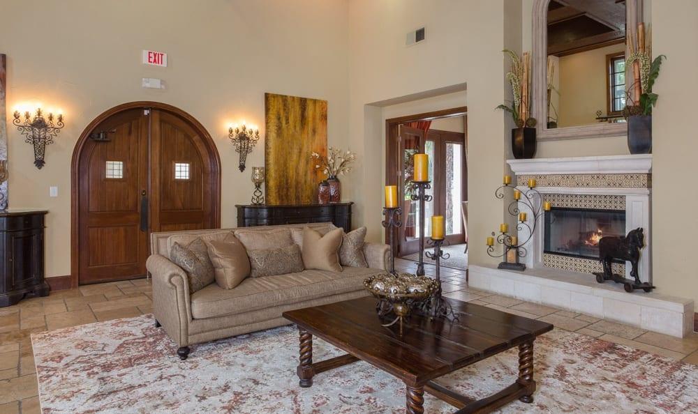 Spacious living room area at Dallas apartments