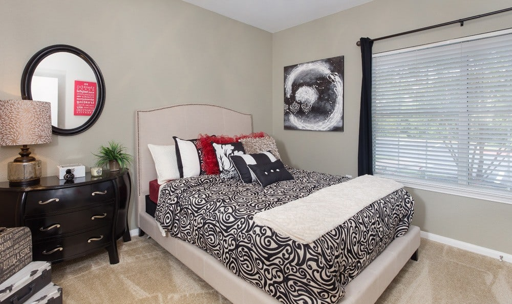 Comfortable bedrooms at our Austin apartments