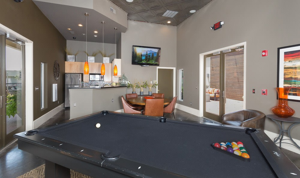Billiard amenities in our Dallas, TX apartments