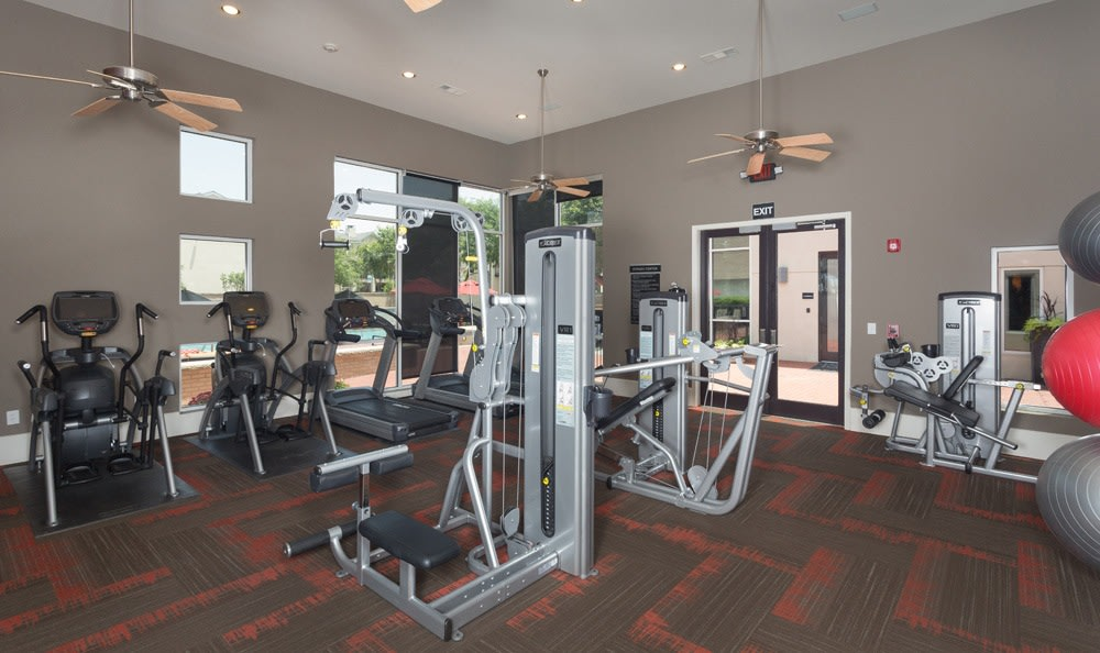 Fitness center in our Dallas, TX apartments